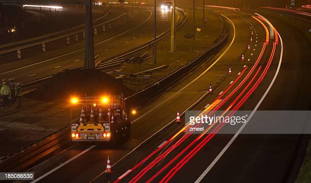 Nighttime Highway Maintenance