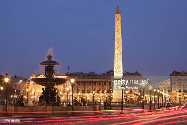 Nighttime image of the Place de la Concorde