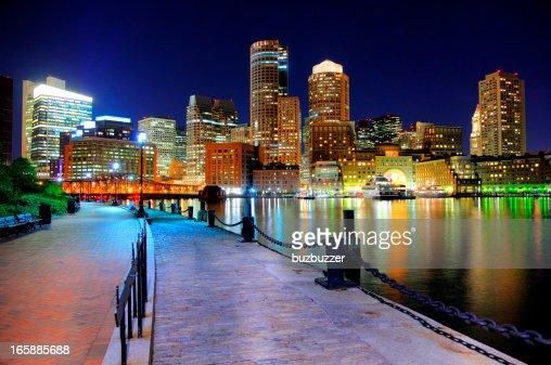 夜のリバーウォークから。ボストン