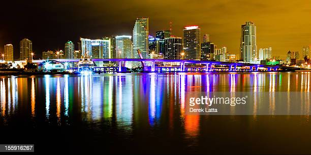 Nighttime view of Miami, Florida, the Magic City