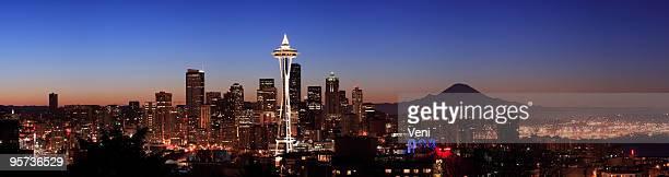 Nighttime view of Seattle, Washington