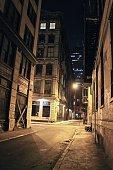 Nightwalk through Alley