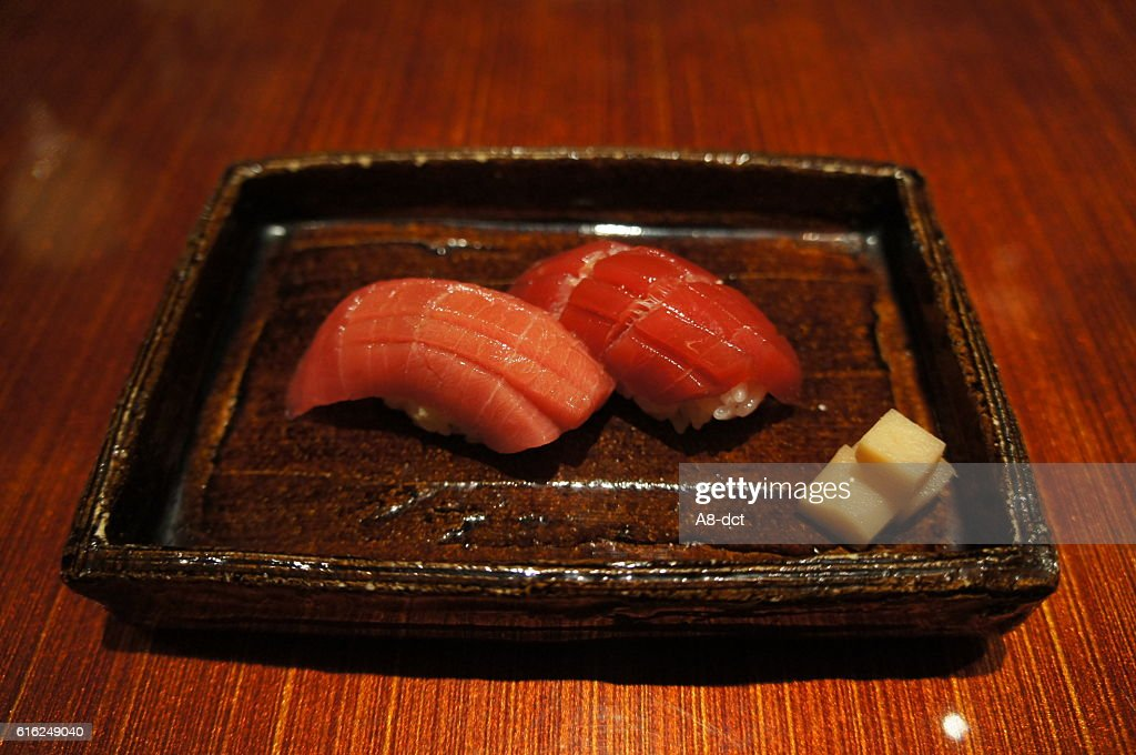 nigiri sushi tuna : Stock Photo