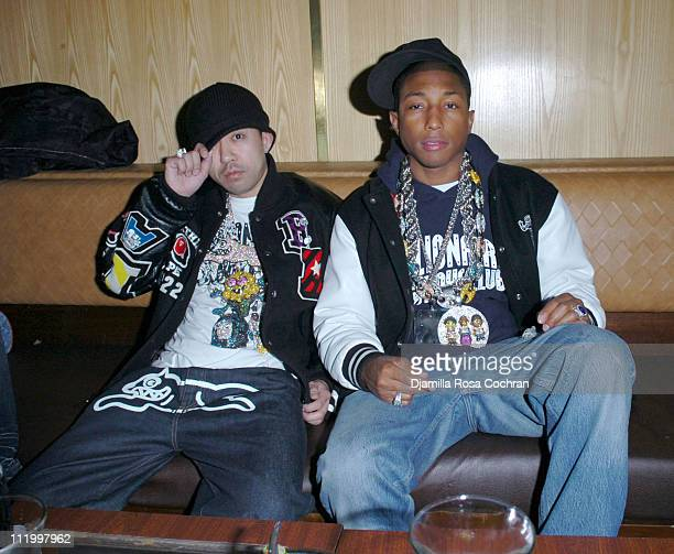Nigo and Pharrell during Nigo Pharrell Present A Bathing Ape NYC 1st Anniversary Celebration at Marquee in New York City New York United States