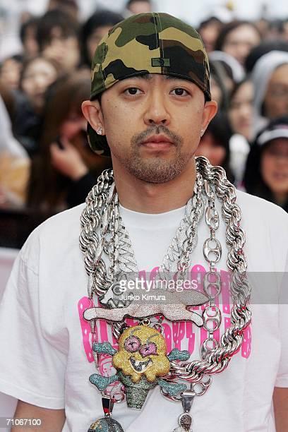 Nigo arrives at the 2006 MTV Video Music Awards at the Yoyogi National Athletic Stadium on May 27 2006 in Tokyo Japan