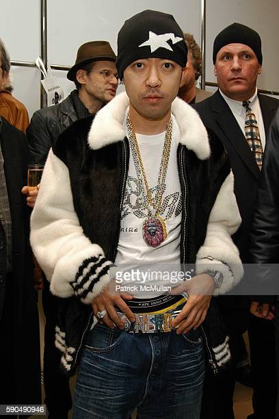 Nigo attends Pharrell Williams Hosts the Store Opening of Nigo's 'A Bathing Ape' at A Bathing Ape Store on January 11 2005 in New York City