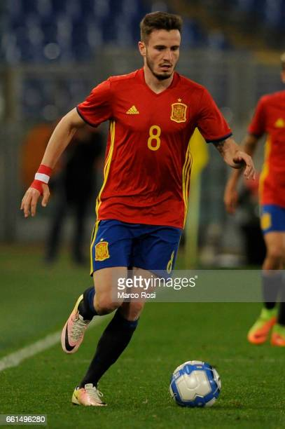 Niguez Saul of Spain U21 during the international friendly match between Italy U21 and Spain U21 at Olimpico Stadium on March 27 2017 in Rome Italy