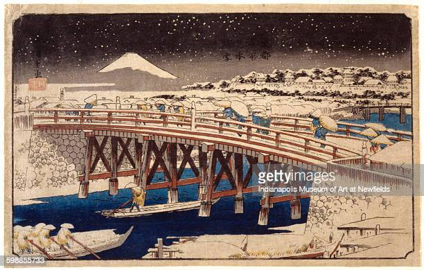 Nihonbashi in the Snow by Japanese artist Utagawa Hiroshige 19th century Gift of Mr and Mrs Roman J Radecki