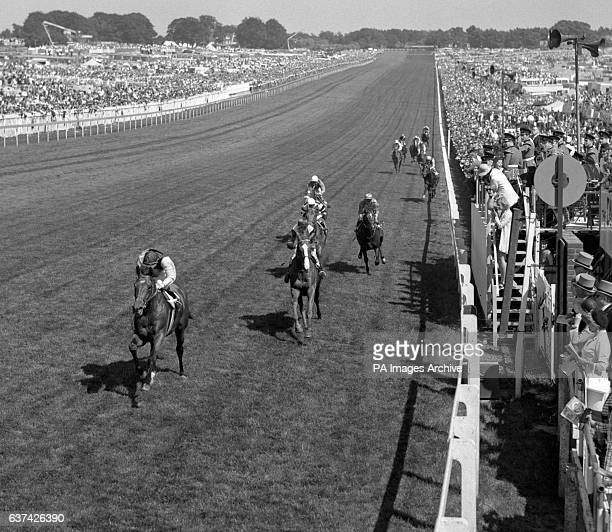 Nijinsky Lester Piggott up passes the post to win the Derby