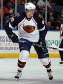 Nik Antropov of the Atlanta Thrashers skates against the New York Islanders on December 11 2010 at Nassau Coliseum in Uniondale New York The...