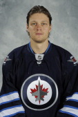 Nik Antropov of the Winnipeg Jets poses for his official headshot for the 20112012 season September 19 2011 at the MTS Centre in Winnipeg Manitoba...