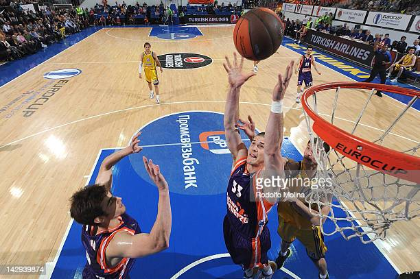 Nik CanerMedley of Valencia Basket in action during the 2012 Eurocup Basketball Final Game between BC Khimki Moscow Region v Valencia Basket at...