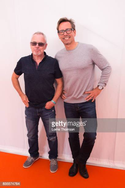 Nik Kershaw and Nick Heyward pose for phototgraphers at Rewind Festival on August 19 2017 in HenleyonThames England
