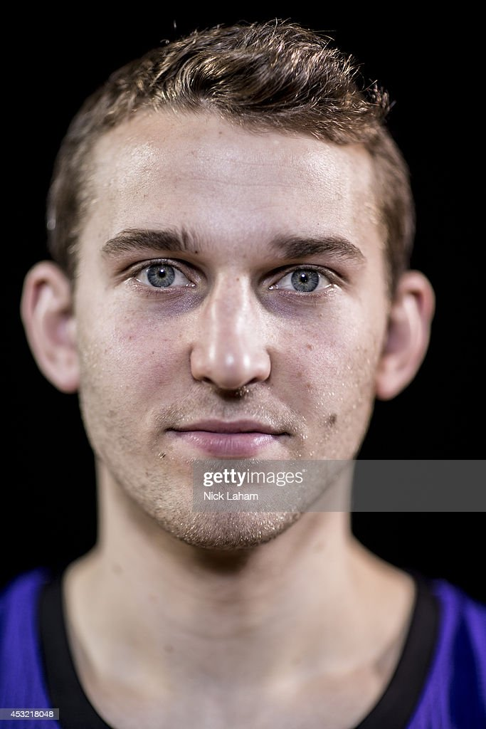 <a gi-track='captionPersonalityLinkClicked' href=/galleries/search?phrase=Nik+Stauskas&family=editorial&specificpeople=9920522 ng-click='$event.stopPropagation()'>Nik Stauskas</a> #10 of the Sacramento Kings poses for a portrait during the 2014 NBA rookie photo shoot at MSG Training Center on August 3, 2014 in Tarrytown, New York.