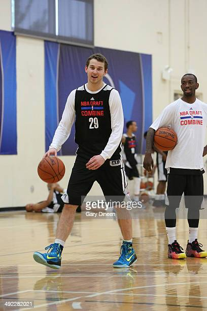 Nik Stauskas participates in drills during the 2014 Draft Combine on May 16 2014 at Quest Multisport in Chicago Illinois NOTE TO USER User expressly...