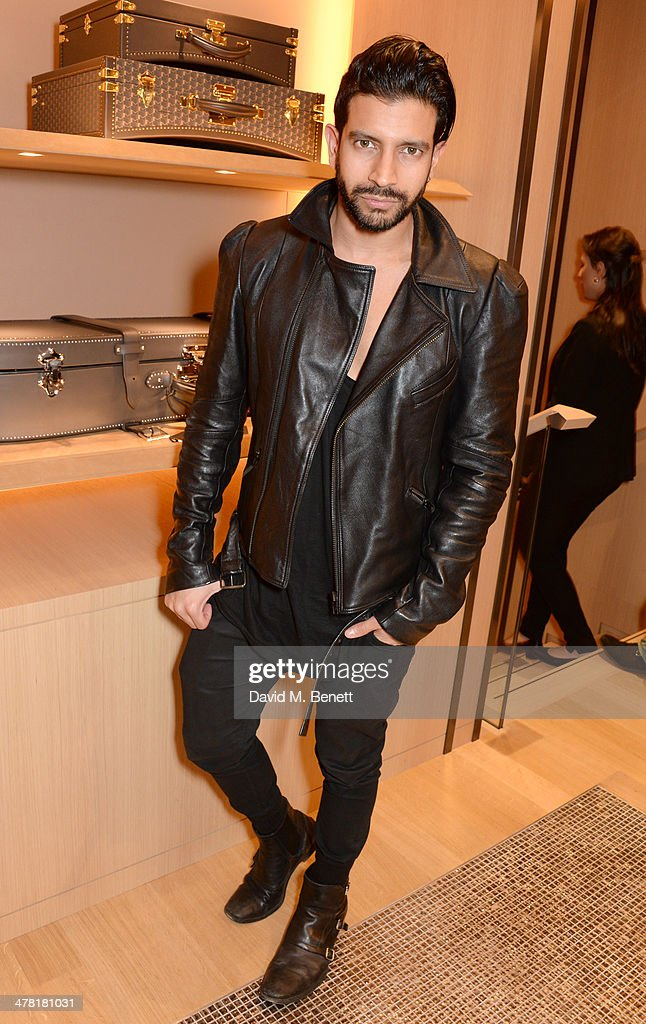 Nik Thakkar attends the Moynat London boutique opening on March 12, 2014 in London, England.
