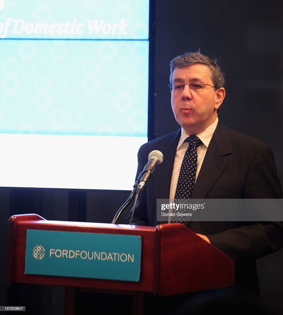 Nik Theodore speaks during a panel at The Ford Foundation Hosts Day Of Discussion On The Hidden World Of Domestic Work In The US at Ford Foundation on November 27, 2012 in New York City.