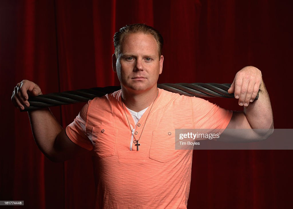 <a gi-track='captionPersonalityLinkClicked' href=/galleries/search?phrase=Nik+Wallenda&family=editorial&specificpeople=7696638 ng-click='$event.stopPropagation()'>Nik Wallenda</a> poses for a photograph with a piece of the high wire he used to walk over Niagara Falls on at Circus Sarasota on February 15, 2013 in Sarasota, Florida. Wallenda is planning to walk on a high wire over the Grand Canyon this summer.