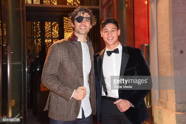 Nik Xhelilaj and Emilio Sakraya Moutaoukkil attend the Opening Night By GALA UFA on February 9 2017 in Berlin Germany