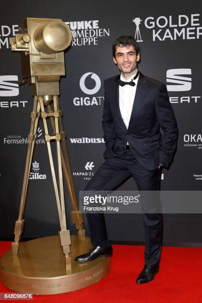 Nik Xhelilaj arrives for the Goldene Kamera on March 4 2017 in Hamburg Germany