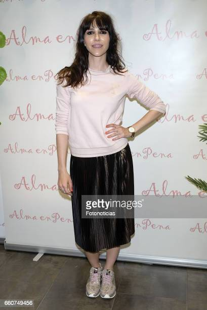 Nika attends the 'Alma En Pena' flagship store opening on March 30 2017 in Madrid Spain