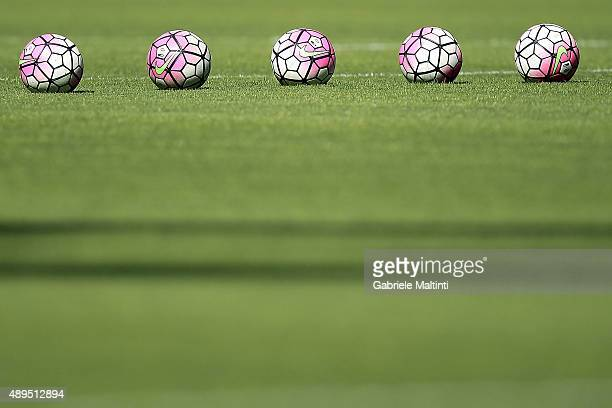 Nike ball during the Serie A match between Genoa CFC and Juventus FC at Stadio Luigi Ferraris on September 20 2015 in Genoa Italy