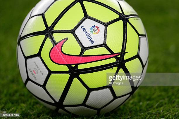 Nike Ball LIGABBVA logo during the Primera Division match between FC Barcelona and Levante UD on September 20 2015 at Camp Nou stadium in Barcelona...
