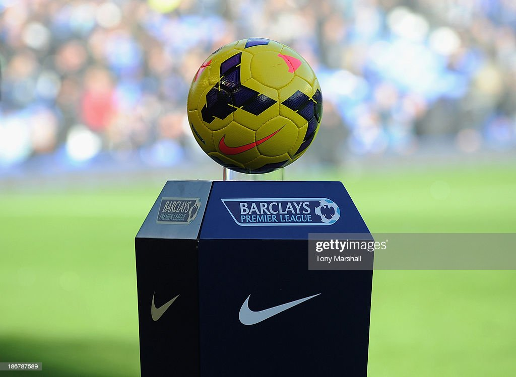 Nike match ball during the Barclays Premier League match between Everton and Tottenham Hotspur at Goodison Park on November 3, 2013 in Liverpool, England.