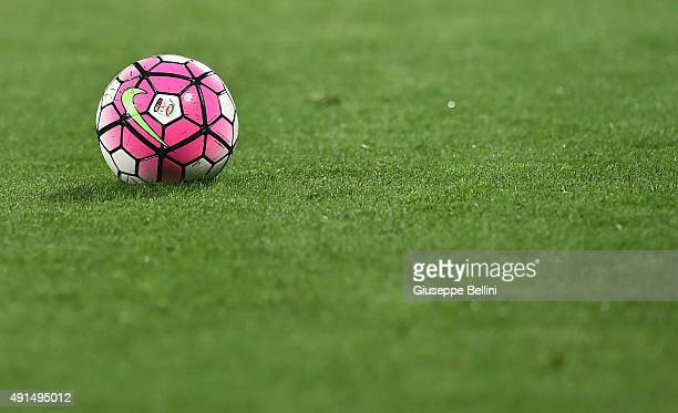 Nike official ball of the match during the Serie A match between Carpi FC and Torino FC at Alberto Braglia Stadium on October 3 2015 in Modena Italy