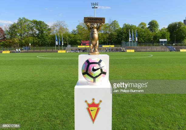 Nike Premier Cup 2017 European Finals Champion winner cup and football during the Nike Premier Cup 2017 on may 7 2017 in Berlin Germany