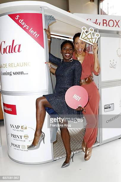 Nikeata Thompson and Annabelle Mandeng attend the 'Gala' fashion brunch during the MercedesBenz Fashion Week Berlin A/W 2017 at Ellington Hotel on...