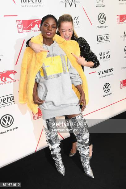 Nikeata Thompson and Marina Hoermanseder attend the New Faces Award Style 2017 at The Grand on November 15 2017 in Berlin Germany