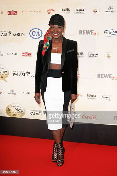 Nikeata Thompson attends the 1st Act Now Jugend Award at FriedrichstadtPalast on November 2 2015 in Berlin Germany
