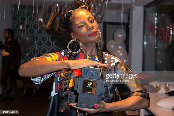 Nikeata Thompson attends the 1st year anniversary celebrations of Tres Click on October 1 2015 in Hamburg Germany