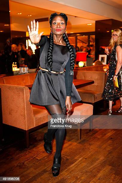 Nikeata Thompson attends the 5th anniversary celebrations of the GRAZIA magazine at Grill Royal on October 08 2015 in Berlin Germany