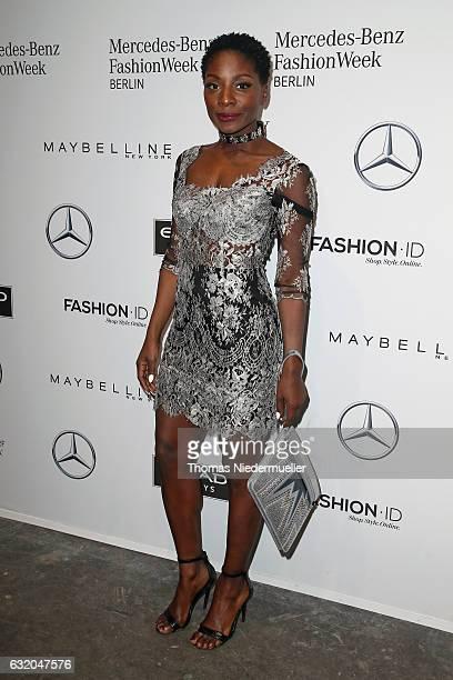 Nikeata Thompson attends the Ewa Herzog show during the MercedesBenz Fashion Week Berlin A/W 2017 at Kaufhaus Jandorf on January 19 2017 in Berlin...