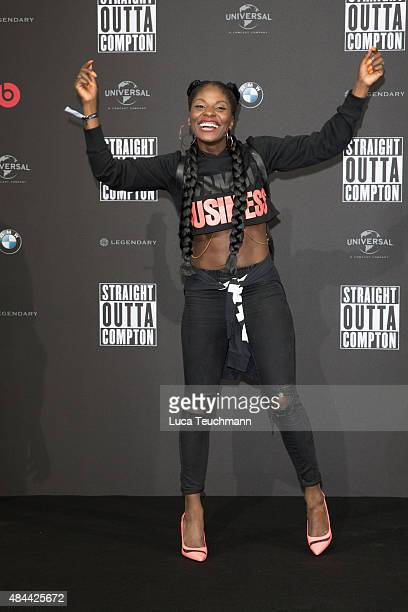 Nikeata Thompson attends the 'Straight Outta Compton' European premiere at CineStar on August 18 2015 in Berlin Germany