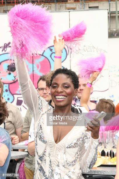 Nikeata Thompson during the celebration of the FriedrichstadtPalast Christopher Street Day at Mercedes Benz Platz on July 20 2017 in Berlin Germany