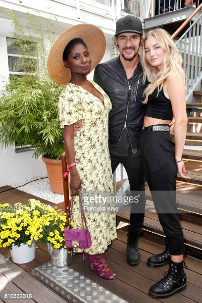 Nikeata Thompson Thomas Hayo and Julia Wulf attend the Gala Fashion Brunch during the MercedesBenz Fashion Week Berlin Spring/Summer 2018 at...