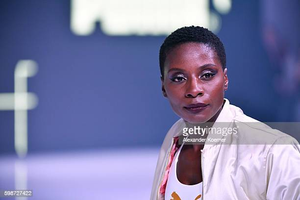 Nikeata Thompson walks the runway at the Puma fashion show during the Bread Butter by Zalando at arena Berlin on September 2 2016 in Berlin Germany