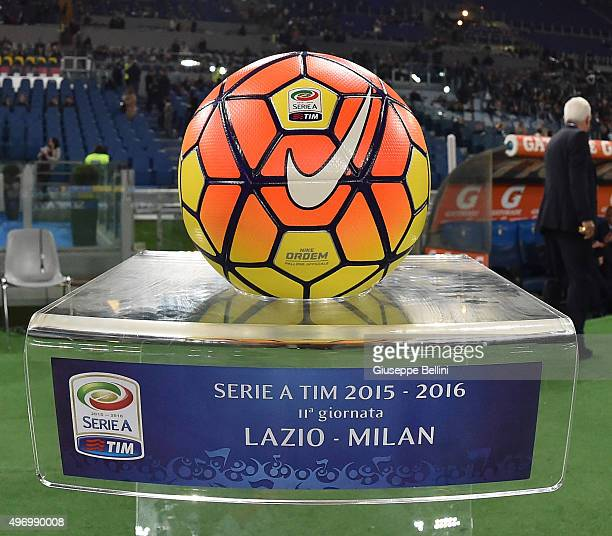 Nike's official ball of the match before the Serie A match between SS Lazio and AC Milan at Stadio Olimpico on November 1 2015 in Rome Italy