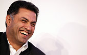 Nikesh Arora President of Global Sales Operations and Business Development at Google laughs during the Digital Life Design conference at HVB Forum on...