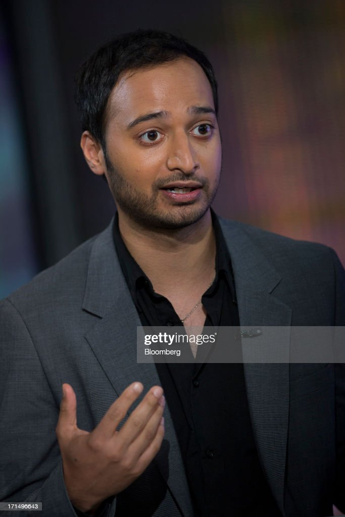 Nikhil Kalghatgi, principal at Softbank Capital, speaks during a Bloomberg Television interview in New York, U.S., on Tuesday, June 25, 2013. Kalghatgi spoke about Snapchat, and app designed for sharing impermanent media. Photographer: Scott Eells/Bloomberg via Getty Images