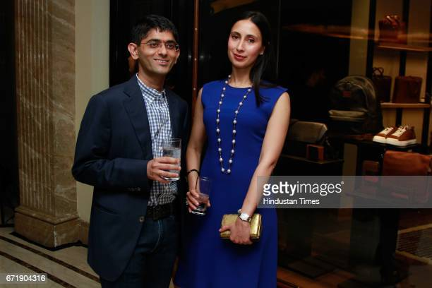 Nikhil Mehra CEO Genesis Luxury and Savitri Singh during the launch of iconic New York design label 'Coach' store at DLF Emporio Vasant Kunj on April...