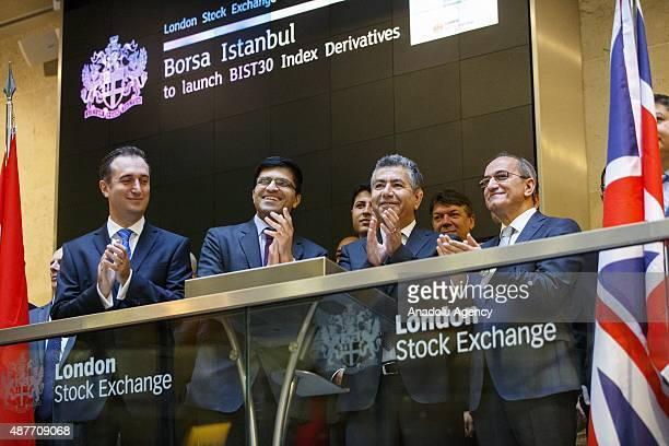 Nikhil Rathi Head of International Development of London Stock Exchange 'Cetin Ali Donmez Borsa Istanbul Executive Vice President and Abdurrahman...