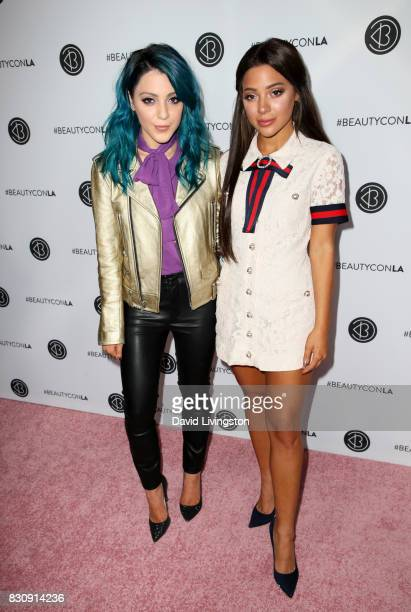 Niki DeMartino and Gabi DeMartino attend Day 1 of the 5th Annual Beautycon Festival Los Angeles at the Los Angeles Convention Center on August 12...