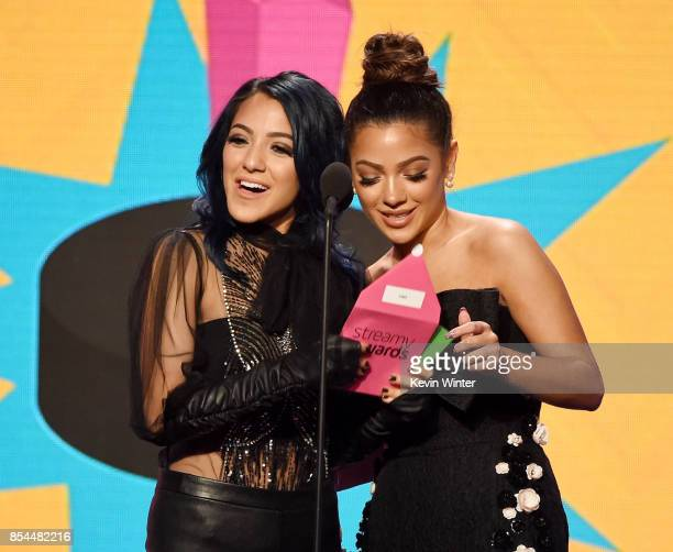 Niki DeMartino and Gabi DeMartino onstage during the 2017 Streamy Awards at The Beverly Hilton Hotel on September 26 2017 in Beverly Hills California