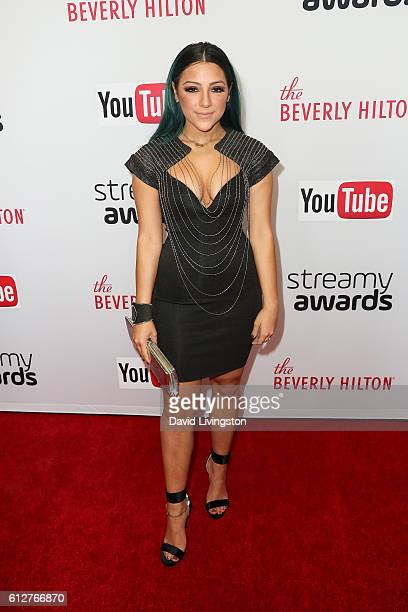 Niki DeMartino arrives at the 2016 Streamy Awards at The Beverly Hilton Hotel on October 4 2016 in Beverly Hills California