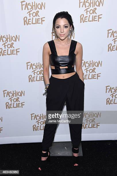 Niki DeMartino attends Naomi Campbell's Fashion For Relief Charity Fashion Show during MercedesBenz Fashion Week Fall 2015 at The Theatre at Lincoln...