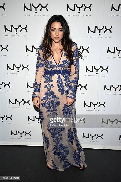 Niki DeMartino attends the NYX Cosmetics VIP lounge at BeautyCon NY 2015 at Pier 36 on October 17 2015 in New York City